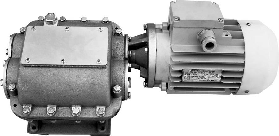 Мотор-редуктор с электродвигателем
